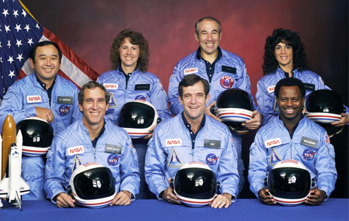 an image of the NASA Challenger Crew